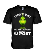 Grinch I Used To Smile And Then I Worked Shirt V-Neck T-Shirt thumbnail