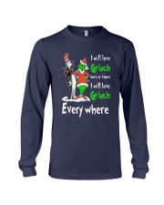 Dr Seuss I Will Love Grinch Here Or There Shirt Long Sleeve Tee thumbnail