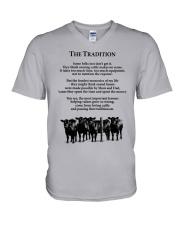 Farmer The Tradition Some Folks Don't Get It Shirt V-Neck T-Shirt thumbnail