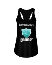 Happy Quarantined Birthday T Shirt Mask Ladies Flowy Tank thumbnail