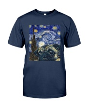 Van Gogh Cat Shirt Classic T-Shirt tile