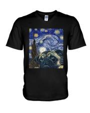 Van Gogh Cat Shirt V-Neck T-Shirt thumbnail