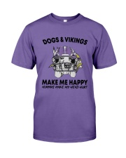 Dogs And Vikings Make Me Happy Humans Make Shirt Premium Fit Mens Tee tile