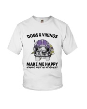 Dogs And Vikings Make Me Happy Humans Make Shirt Youth T-Shirt tile