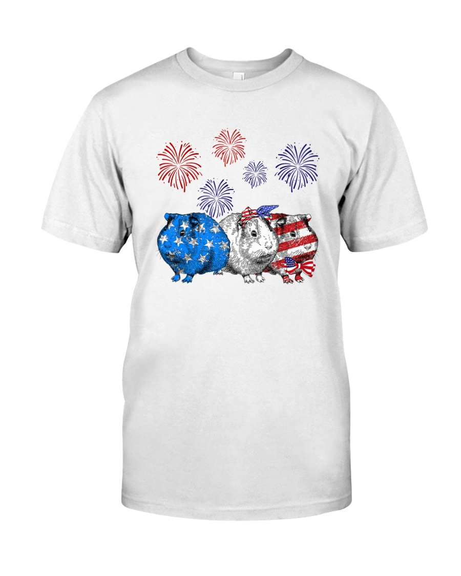 Us Independence Day Guinea Pigs Shirt Classic T-Shirt