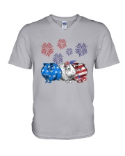 Us Independence Day Guinea Pigs Shirt V-Neck T-Shirt thumbnail