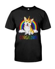 Rainbow Corgicorn Shirt Classic T-Shirt front