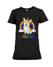 Rainbow Corgicorn Shirt Premium Fit Ladies Tee thumbnail