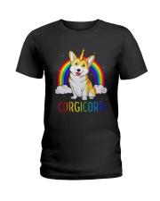 Rainbow Corgicorn Shirt Ladies T-Shirt thumbnail