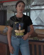 Miller Lite Helping Me Survive Quarantine Shirt Classic T-Shirt apparel-classic-tshirt-lifestyle-05