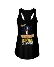 Miller Lite Helping Me Survive Quarantine Shirt Ladies Flowy Tank thumbnail