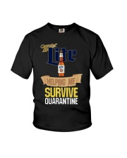 Miller Lite Helping Me Survive Quarantine Shirt Youth T-Shirt thumbnail