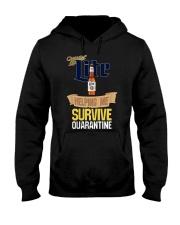 Miller Lite Helping Me Survive Quarantine Shirt Hooded Sweatshirt thumbnail