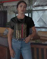 Leopard Red Line Shirt Classic T-Shirt apparel-classic-tshirt-lifestyle-05