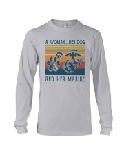 A Woman Her Dog And Her Marine Shirt Long Sleeve Tee thumbnail