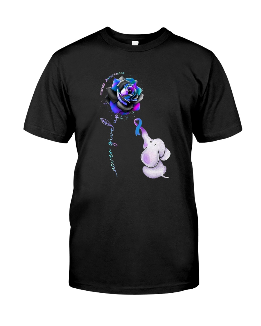 Rose Never Give Up Suicide Awareness Shirt Classic T-Shirt