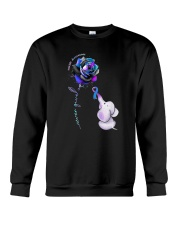 Rose Never Give Up Suicide Awareness Shirt Crewneck Sweatshirt thumbnail