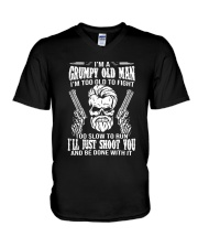 I'm A Grumpy Old Man I'm Too Old To Fight Shirt V-Neck T-Shirt thumbnail