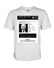 Trump Poster Most Wanted By The Fbi Notice Shirt V-Neck T-Shirt thumbnail