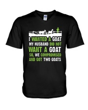 I Wanted A Goat My Husband Did Not Want Goat Shirt V-Neck T-Shirt thumbnail
