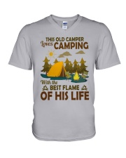 This Old Camper Love Camping With Best Flame Shirt V-Neck T-Shirt thumbnail