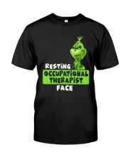 Grinch Resting Occupational Therapist Face Shirt Premium Fit Mens Tee thumbnail