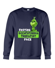 Grinch Resting Occupational Therapist Face Shirt Crewneck Sweatshirt thumbnail