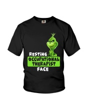 Grinch Resting Occupational Therapist Face Shirt Youth T-Shirt thumbnail