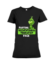 Grinch Resting Occupational Therapist Face Shirt Premium Fit Ladies Tee thumbnail