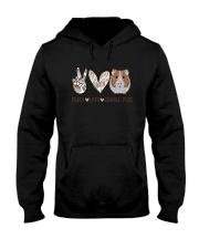 Peace Love Guinea Pigs Shirt Hooded Sweatshirt thumbnail