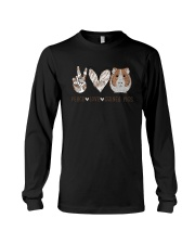 Peace Love Guinea Pigs Shirt Long Sleeve Tee thumbnail