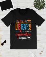 Library Where The Adventure Begins Shirt Classic T-Shirt lifestyle-mens-crewneck-front-17