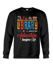 Library Where The Adventure Begins Shirt Crewneck Sweatshirt thumbnail