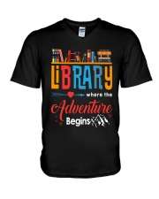 Library Where The Adventure Begins Shirt V-Neck T-Shirt thumbnail