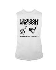 I Like Golf And Dogs And Maybe 3 People Shirt Sleeveless Tee thumbnail