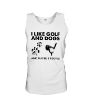 I Like Golf And Dogs And Maybe 3 People Shirt Unisex Tank thumbnail