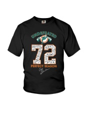 Undefeated 1972 17 0 72 Perfect Season Shirt Youth T-Shirt thumbnail