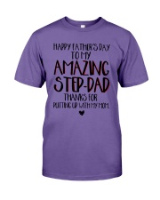 Happy Father's Day To My Amazing Step-dad Shirt Premium Fit Mens Tee thumbnail