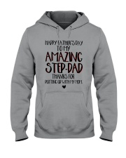 Happy Father's Day To My Amazing Step-dad Shirt Hooded Sweatshirt thumbnail