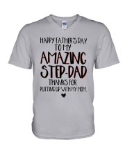 Happy Father's Day To My Amazing Step-dad Shirt V-Neck T-Shirt thumbnail