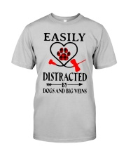 Easily Distracted By Dogs And Big Veins Shirt Classic T-Shirt tile