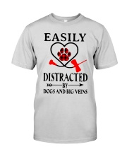 Easily Distracted By Dogs And Big Veins Shirt Premium Fit Mens Tee thumbnail