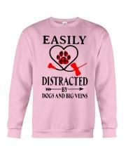 Easily Distracted By Dogs And Big Veins Shirt Crewneck Sweatshirt thumbnail