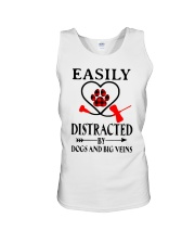 Easily Distracted By Dogs And Big Veins Shirt Unisex Tank thumbnail