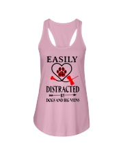 Easily Distracted By Dogs And Big Veins Shirt Ladies Flowy Tank thumbnail