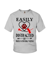 Easily Distracted By Dogs And Big Veins Shirt Youth T-Shirt thumbnail