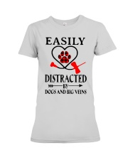 Easily Distracted By Dogs And Big Veins Shirt Premium Fit Ladies Tee thumbnail
