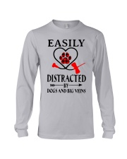 Easily Distracted By Dogs And Big Veins Shirt Long Sleeve Tee thumbnail