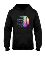Softball I'll Always Be Her Biggest Fan Shirt Hooded Sweatshirt thumbnail