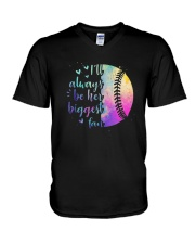 Softball I'll Always Be Her Biggest Fan Shirt V-Neck T-Shirt thumbnail
